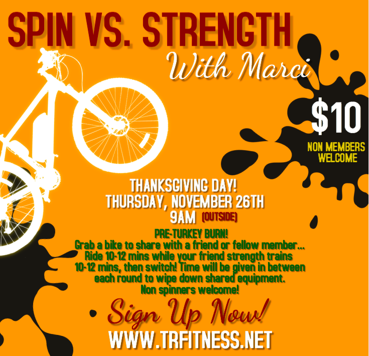 11/26 9AM SPIN VS. STRENGTH WITH MARCI