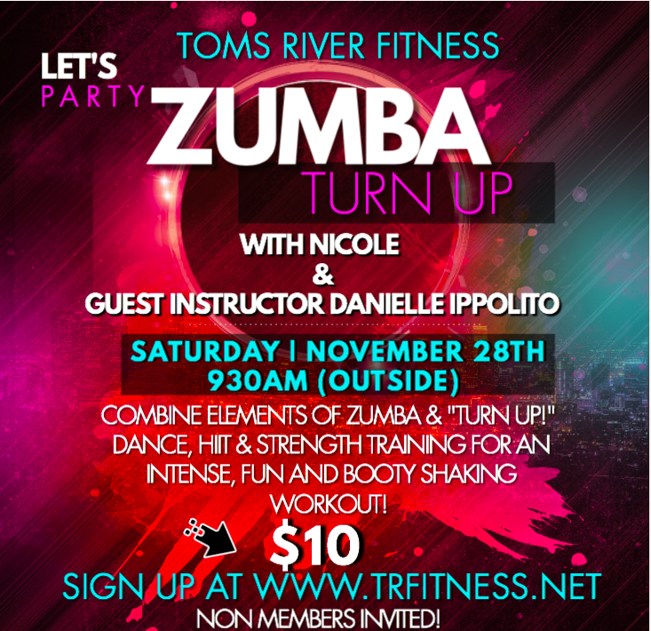 11/28 930AM ZUMBA-TURN UP WITH NICOLE & DANIELLE