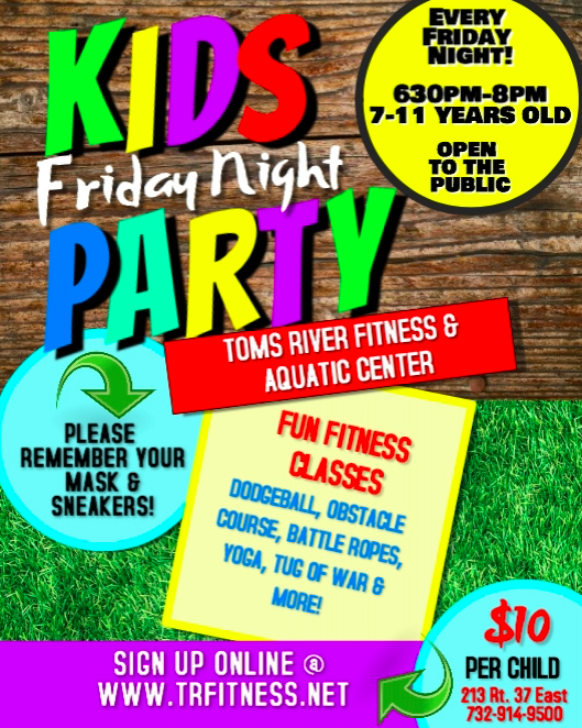*KIDS FRIDAY NIGHT PARTY - 3/12* - POOL IS BACK!