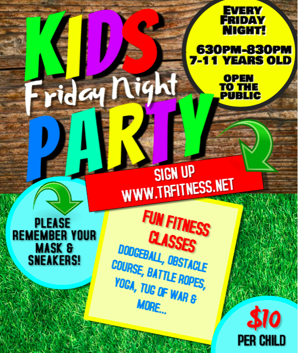 *KIDS FRIDAY NIGHT PARTY* POOL IS BACK!