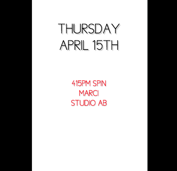 4/15 415PM SPIN MARCI